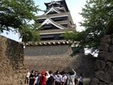 熊本城の見学です