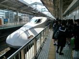 帰りの新幹線です