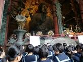 大仏殿にて