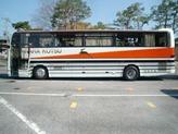 快適なバスでの移動です
