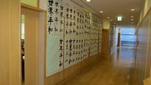 廊下に展示された作品