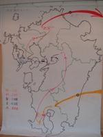 巨大九州地図
