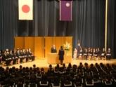 新入生代表挨拶(高校)「志を高く」
