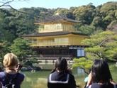 光り輝く金閣寺