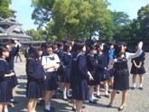 熊本城にて