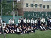 応援の生徒たち