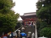 雨の鶴岡八幡宮