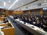 大勢の在校生が集まりました
